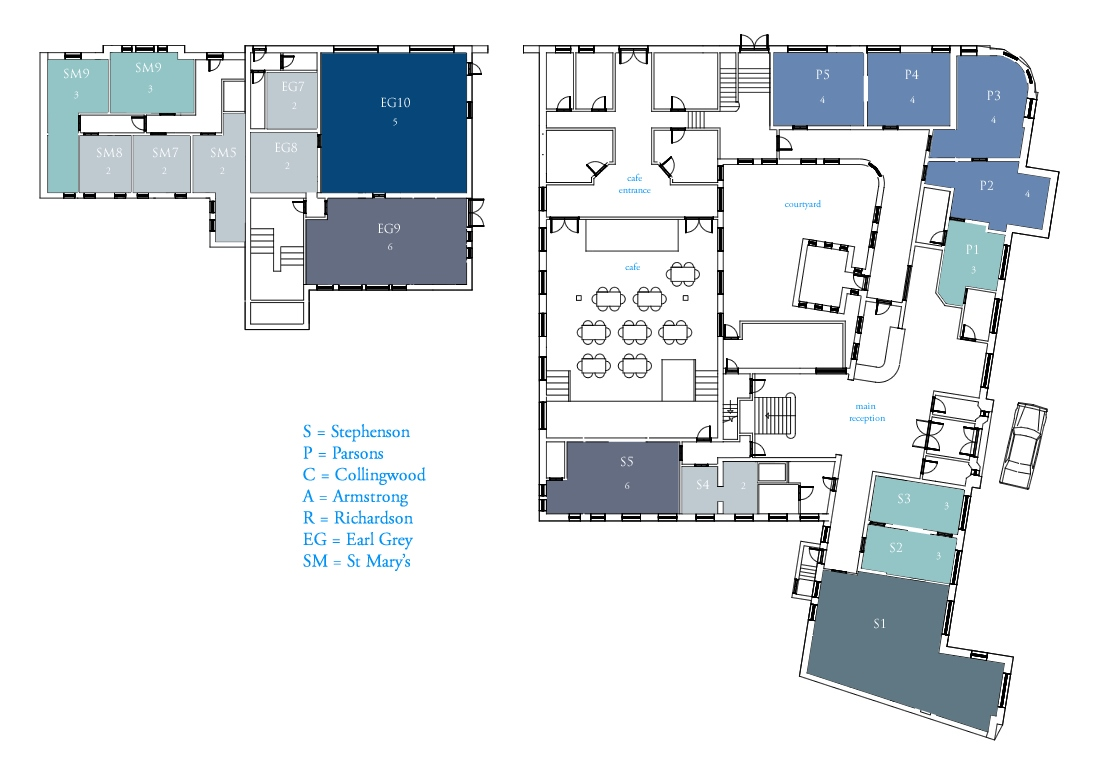 Ground Floor Office Floorplan at The Town Hall Chambers